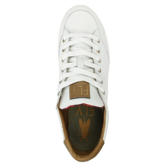 Fly London Bato White Leather Lace Up Trainer
