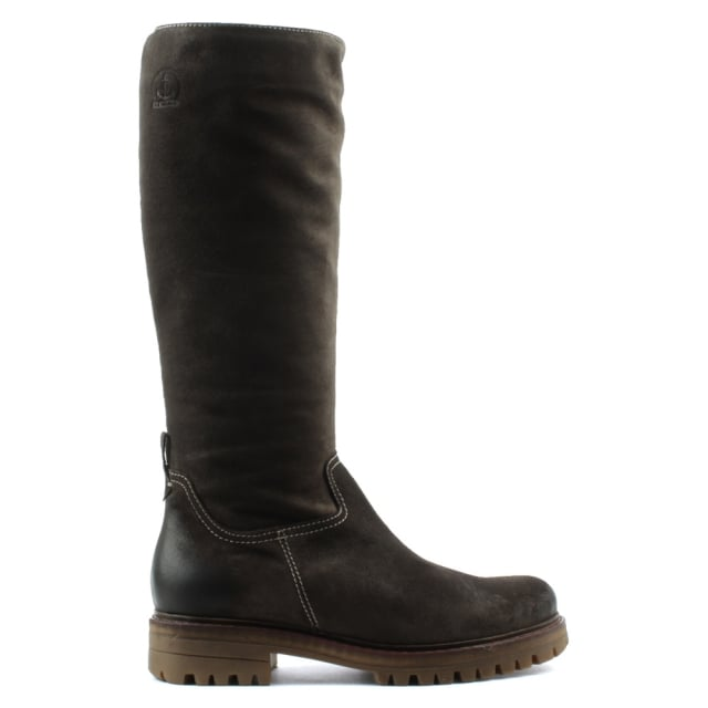 La Maria Brown Leather Knee High Walking Boot