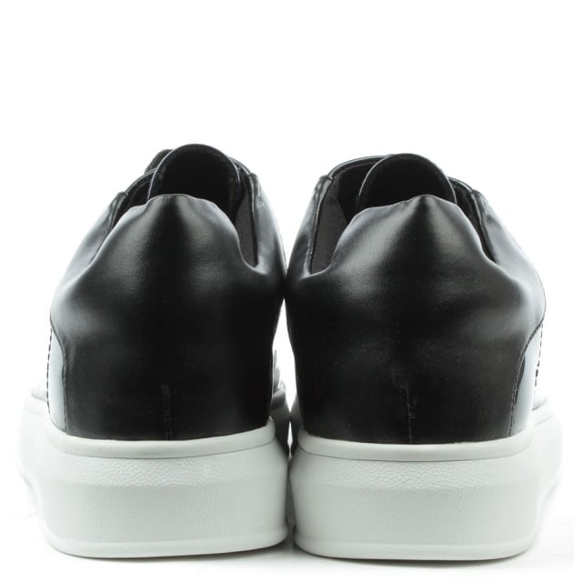 DF By Daniel Catalpa Black Patent Metallic Lace Up Trainer