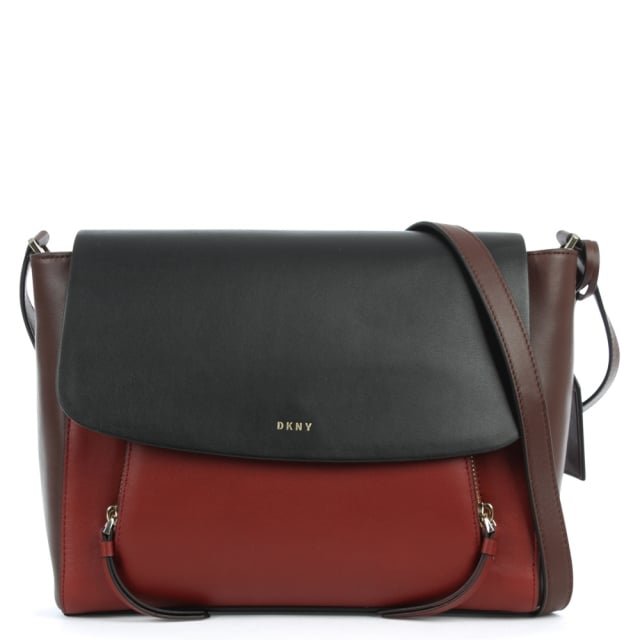 DKNY Greenwich Multicoloured Leather Pocket Messenger