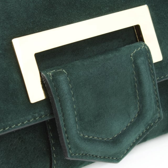 Daniel Summery Green Suede Clutch Bag