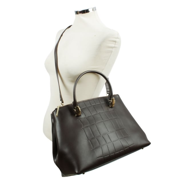 Cavalli Class Panthera 4Ever Brown Reptile Bag