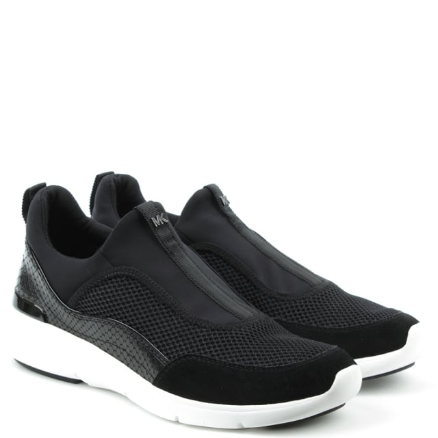 Michael Kors Ace Black Scuba Slip On Trainer