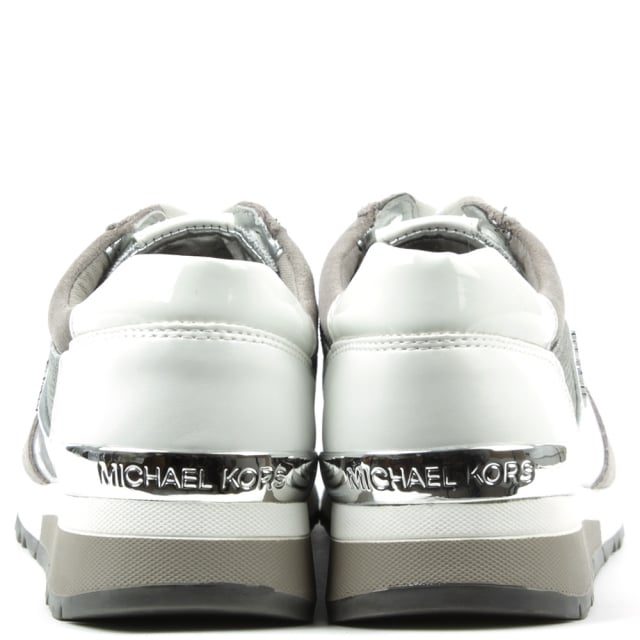 Michael Kors Allie Silver Lace Up Trainer