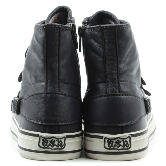 Ash Virgin Bis Graphite Leather Buckle Women's Trainer