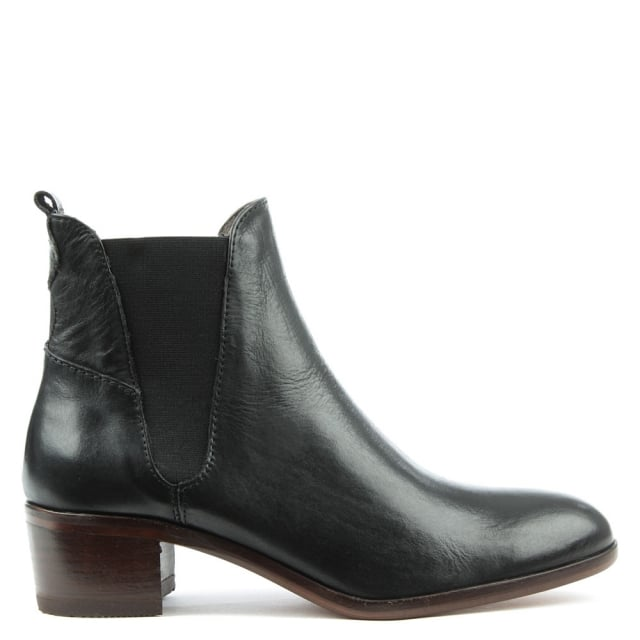 Hudson Compound Black Leather Chelsea Boot