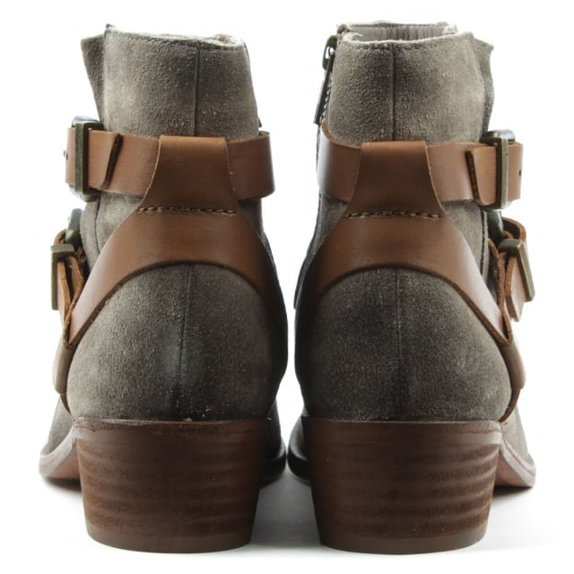 Hudson Meeya Grey Suede Two Strap Ankle Boot