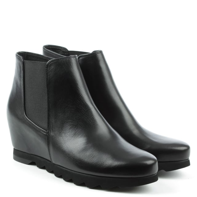 Hogl Black Leather Chelsea Ankle Boot