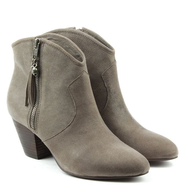 Ash Jess Taupe Suede Ankle Boots