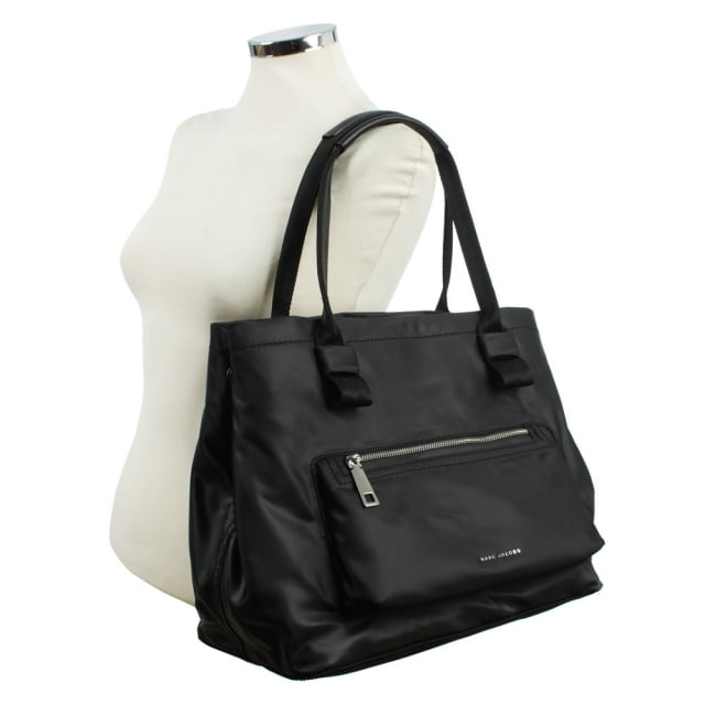 Marc Jacobs Easy Black Front Pocket Tote Bag