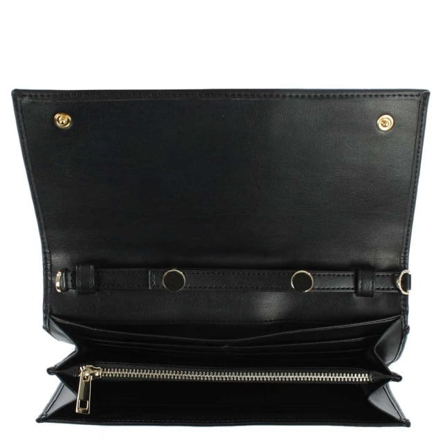 Cavalli Class Glam Belt Black Leather Wallet