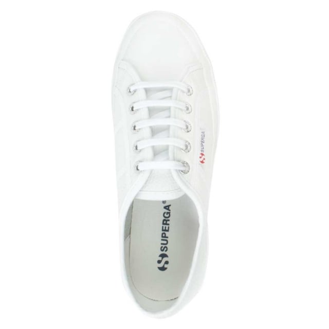 Superga Cotu White Leather Lace Up Trainer