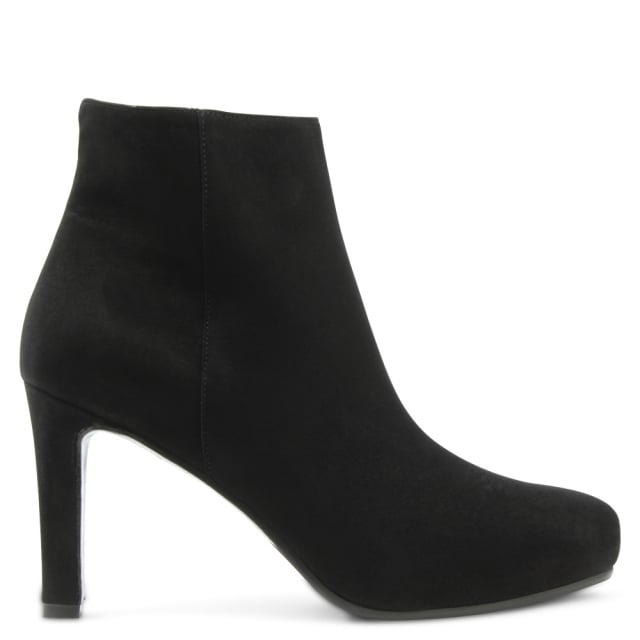 Calpierre Black Suede Classic Ankle Boot