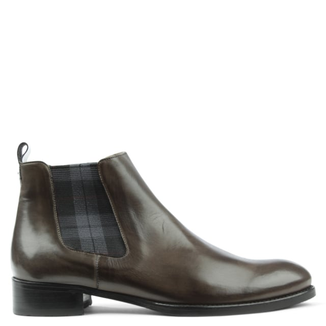 Calpierre Classic Grey Leather Chelsea Boot