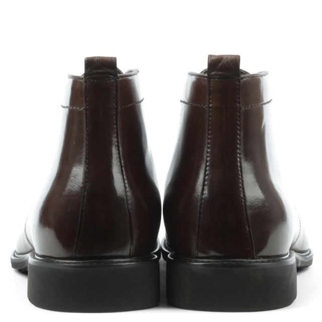 Daniel Beaminster Brown Leather Lace Up Ankle Boot