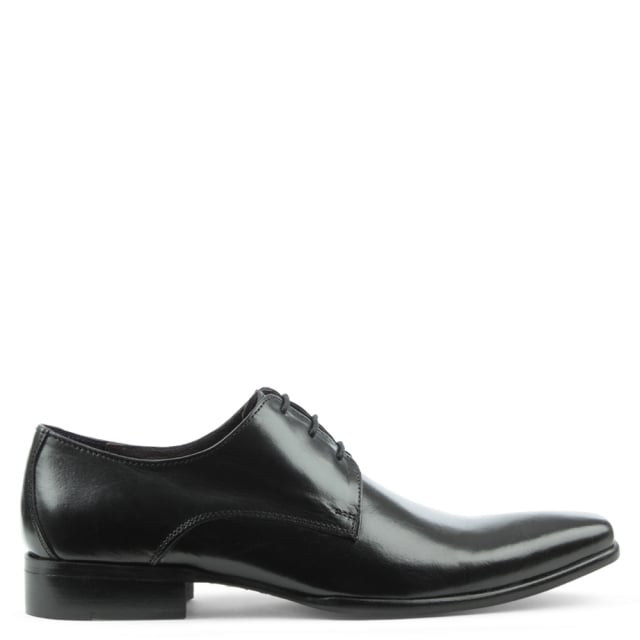 Gucinari Black Leather Classic Lace Up Dress Shoe