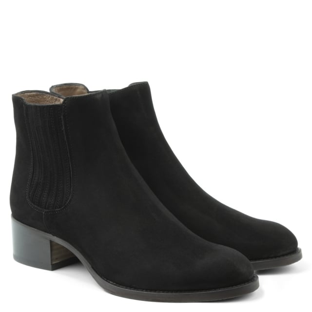 Calpierre Vented Black Suede Chelsea Boot