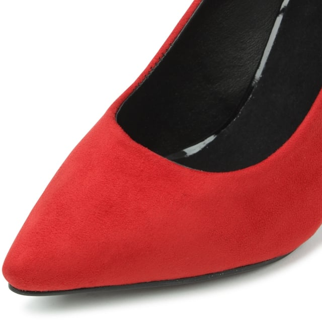 DF By Daniel Meadowbeck Red Pointy Contrast Court