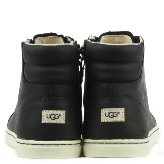 UGG Gradie 2 Black Leather High Top Trainer