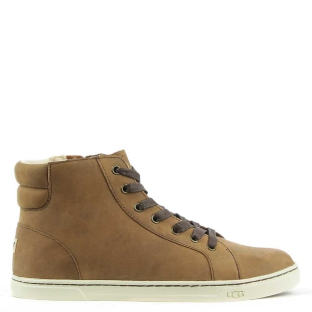 UGG Gradie 2 Chocolate Leather High Top Trainer