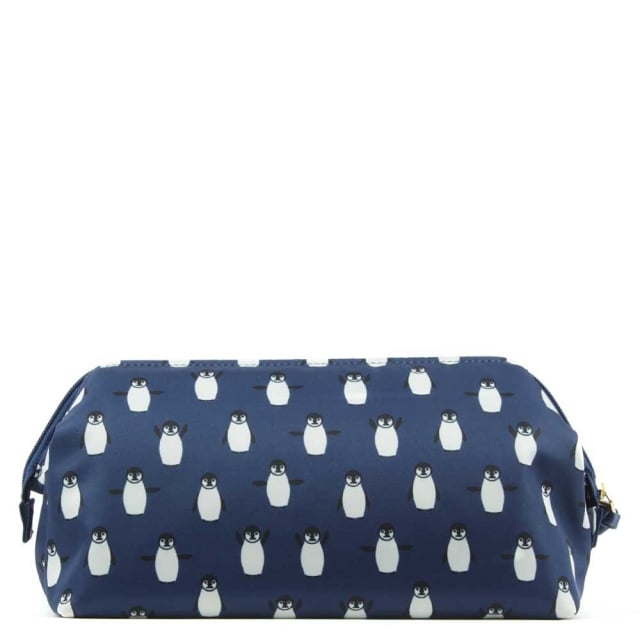 Tory Burch Penguin Print Nylon Cosmetic Case