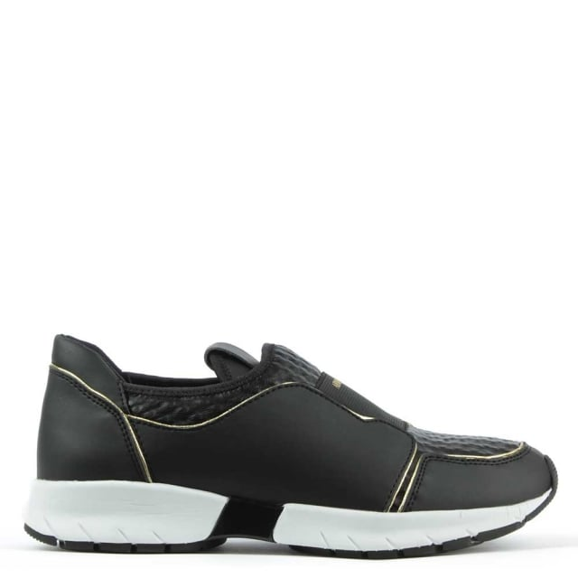 Armani Jeans Sporty Slip On Black Trainer