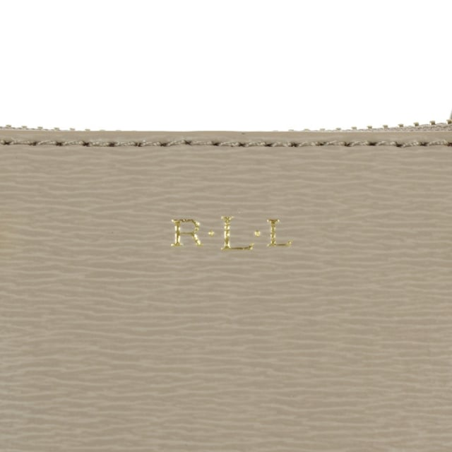 Lauren by Ralph Lauren Newbury Mini Zip Taupe Leather Satchel