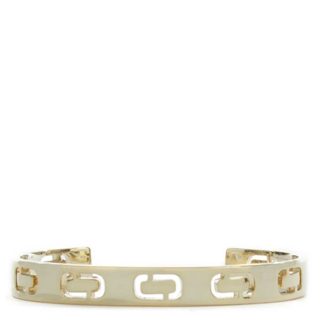 Marc Jacobs Icon Gold Tone Logo J Cuff