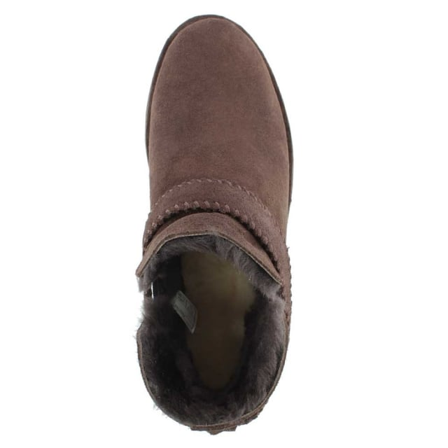 UGG Mckay Chocolate Leather Twinface Ankle Boot