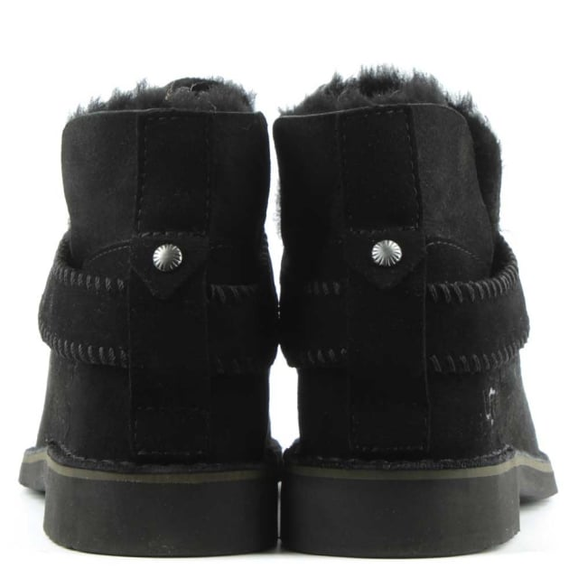 UGG Mckay Black Leather Twinface Ankle Boot