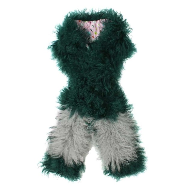 Charlotte Simone Pocket Monster Green Mongolian Scarf