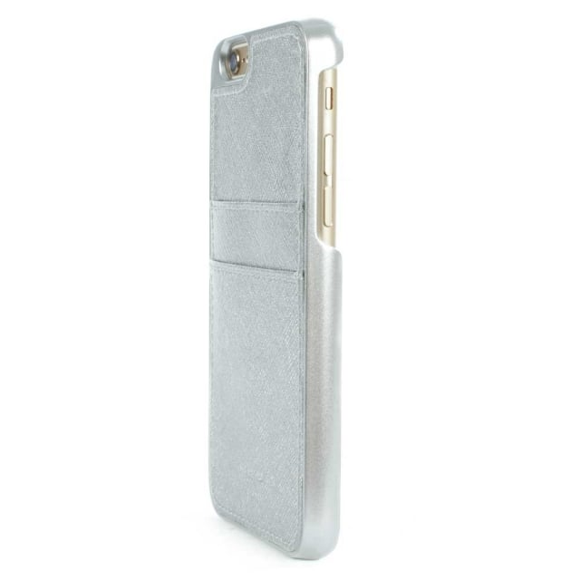 Michael Kors iPhone 6 Silver Saffiano Leather Smartphone Case