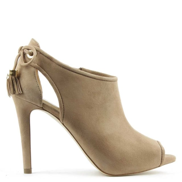 Michael Kors Jennings Dark Khaki Suede Shoe Boot