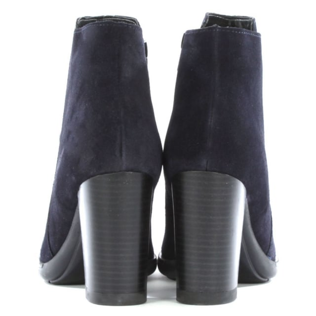 DF By Daniel Lisianthus Navy Suede Square Toe Ankle Boot