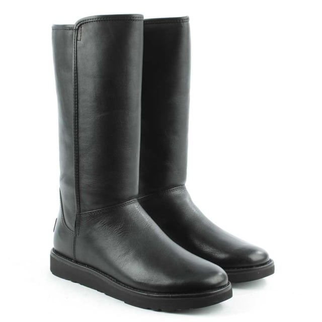 UGG Abree Nero Leather Twinfaced Calf Boot