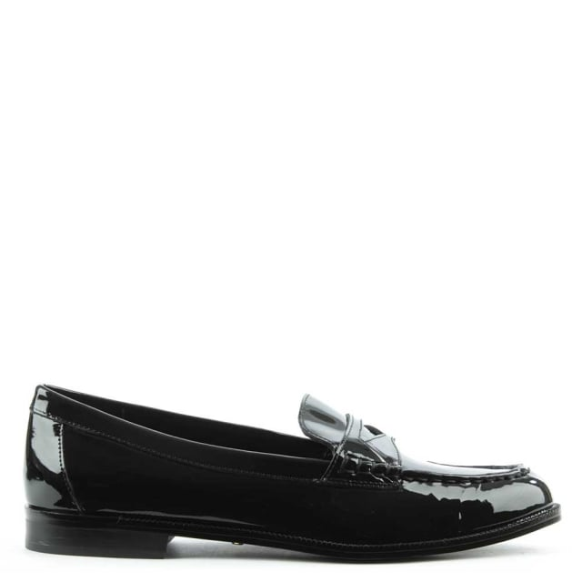 Lauren by Ralph Lauren Barrett Black Patent Leather Loafer