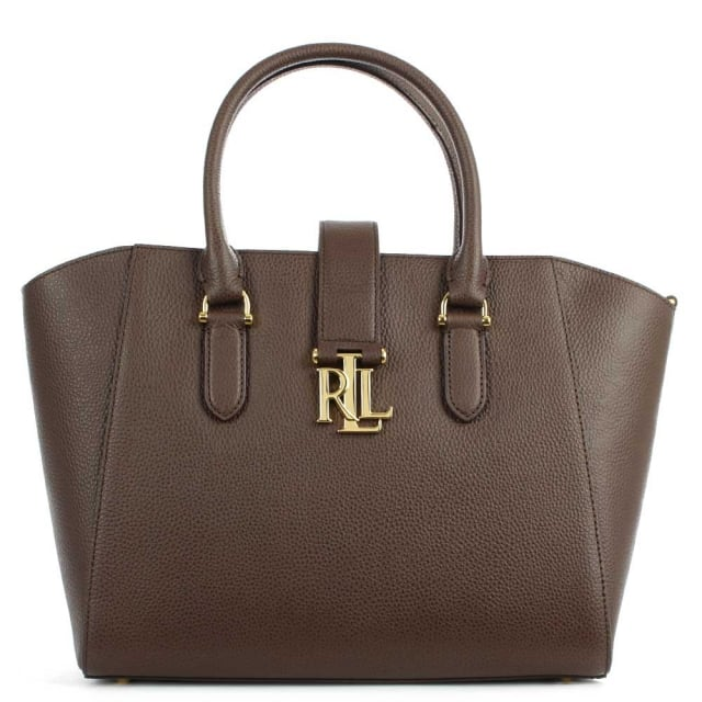 Lauren by Ralph Lauren Carrington Bethany Brushed Brown Leather Shopper