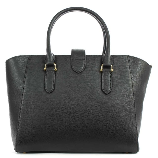 Lauren by Ralph Lauren Carrington Bethany Black Leather Shopper