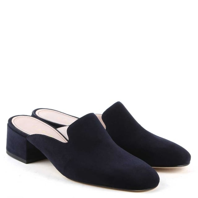 Daniel Alfredo Navy Suede Slip On Loafer