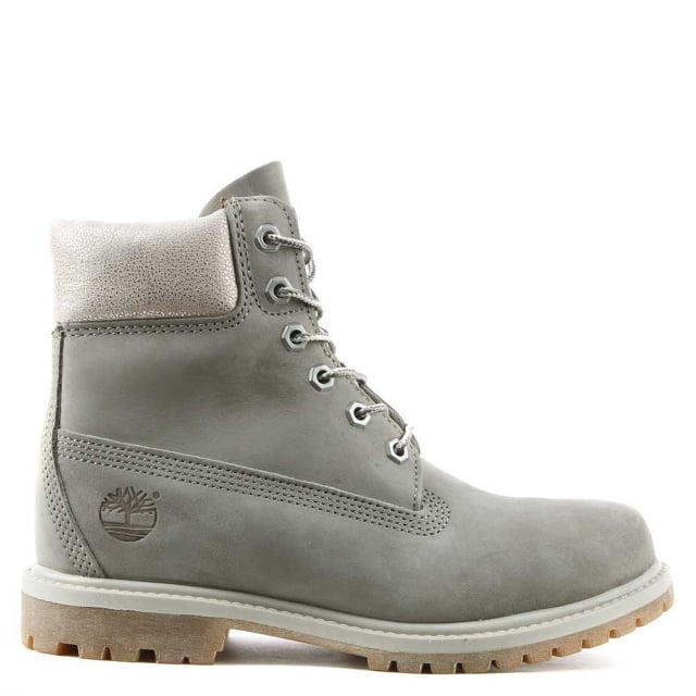 "Timberland Women's 6"" Grey Premium Waterproof Boot"