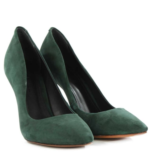 DF By Daniel Skycrambe Green Suede High Court Shoe