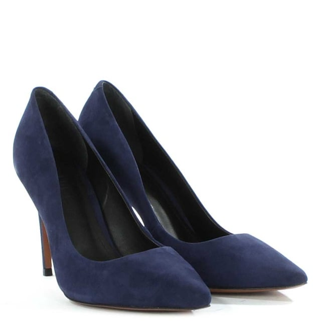 DF By Daniel Skycrambe Navy Suede High Court Shoe