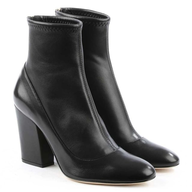 Sergio Rossi Virginia Black Leather Ankle Boot