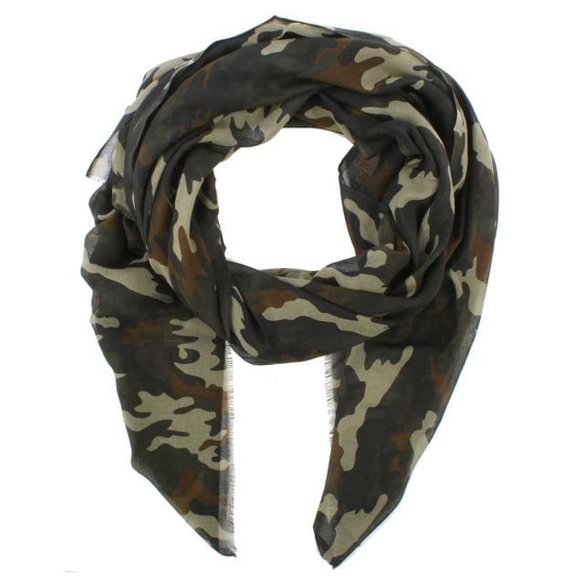 Daniel Camouflage Multicoloured Scarf