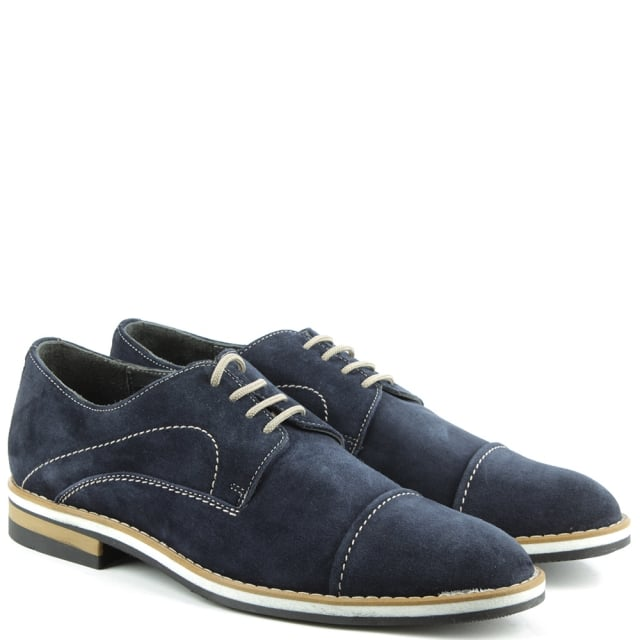 Patalo Shoes Navy Suede Lace Up Shoe