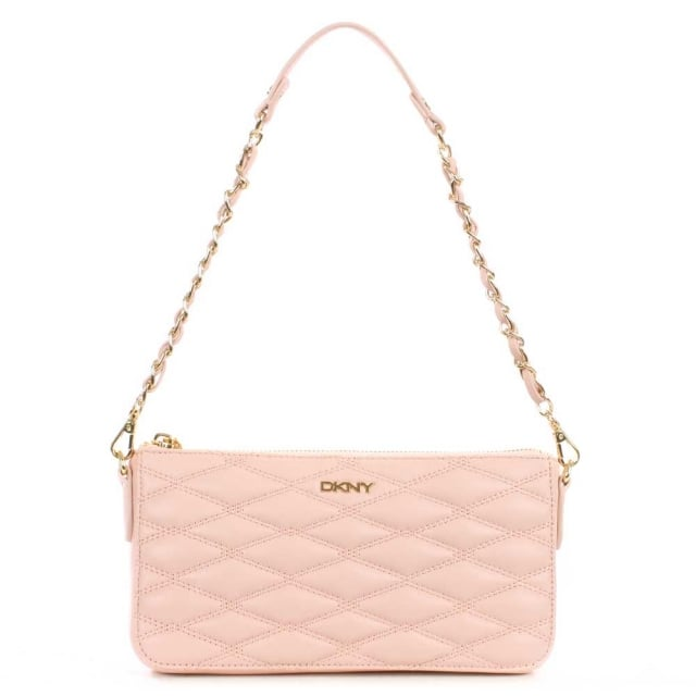 DKNY Gansevoort Light Pink Quilted Nappa Cross-Body Bag
