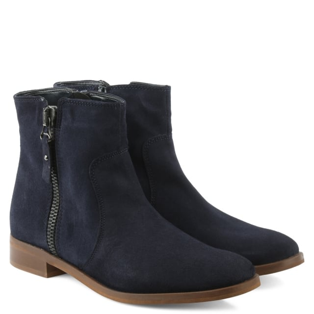 Moda In Pelle Corbella Navy Suede Ankle Boot