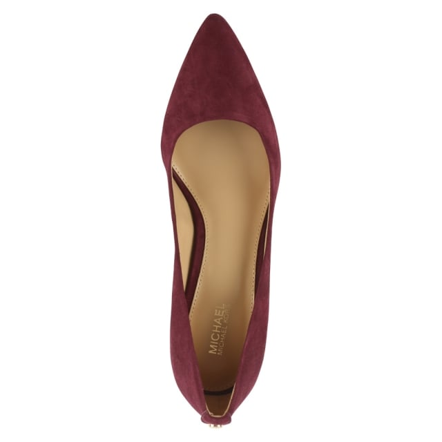 Michael Kors Flex Plum Suede Pointed Toe Court Shoe