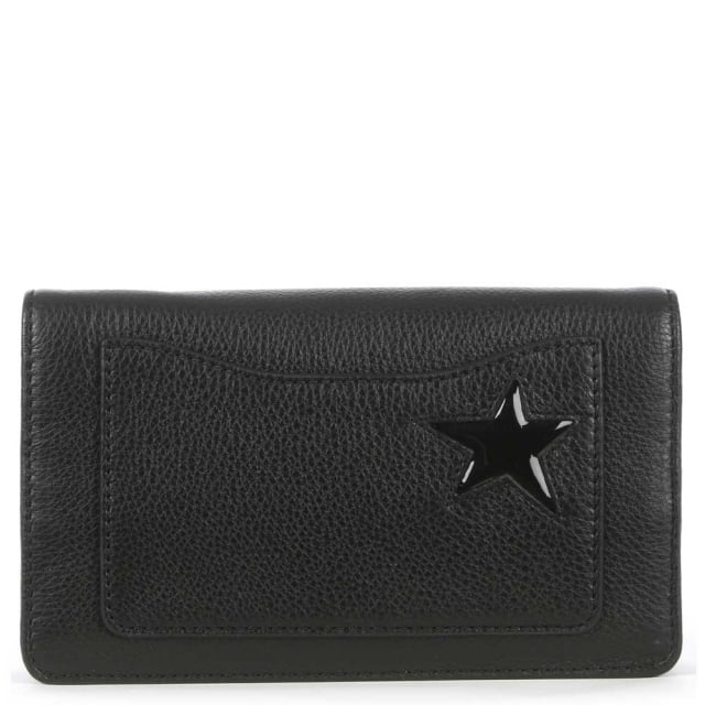 Marc Jacobs Star Patchwork Black Leather Strap Wallet