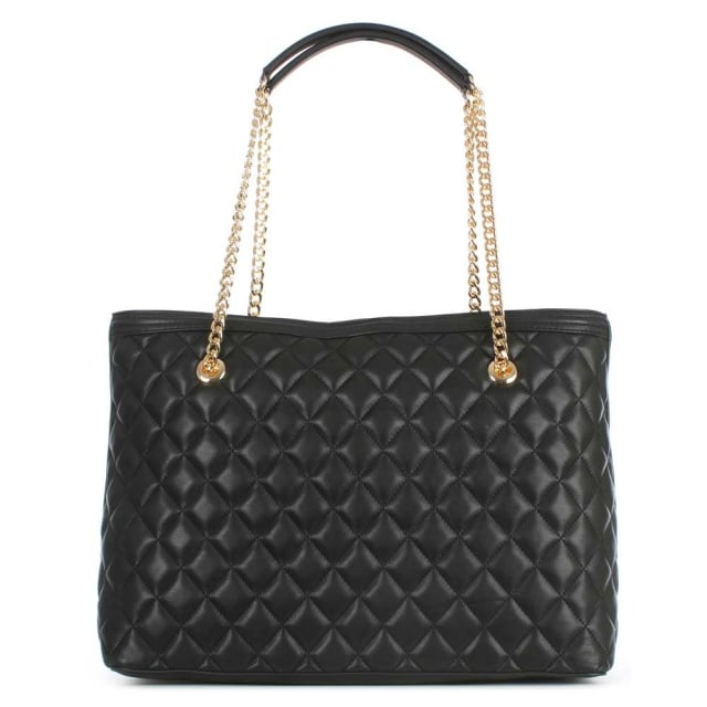 Love Moschino Black Quilted Shopper